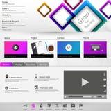 Moderne saubere Website-Schablone Stockfotografie