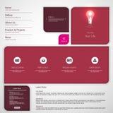 Moderne saubere Website-Schablone Stockbild