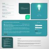 Moderne saubere Website-Schablone Lizenzfreie Stockfotografie