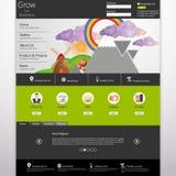Moderne saubere Website-Schablone Lizenzfreies Stockbild
