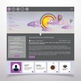 Moderne saubere Website-Schablone Stockfotos