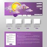 Moderne saubere Website-Schablone Lizenzfreies Stockfoto