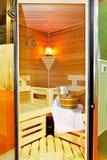 Moderne Sauna Stockfotos