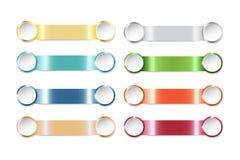 Moderne Schablone als Streifen eines Farbstahls mit zwei Farbkreisen Stockfotografie