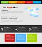 Moderne Schablone der Web site Lizenzfreies Stockfoto
