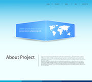 Moderne Schablone der Website Stockfotografie