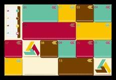 Moderne Schablone des geometrischen Entwurfs, kann für benutzt werden  Stockbild