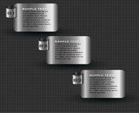 Moderne Schablone des Metallhintergrundes Lizenzfreie Abbildung
