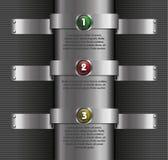 Moderne Schablone des Metallhintergrundes Vektor Abbildung