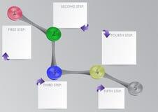 Moderne Schablone für Informationsgraphiken Stockbild