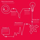 Moderne Schablone infographics Prozesszahl der weißen Linie Stockfoto