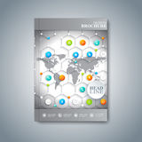 Moderne Schablonenplanbroschüre, -zeitschrift, -flieger, -broschüre, -abdeckung oder -bericht in der Größe A4 für Ihr Design Auch Lizenzfreies Stockfoto