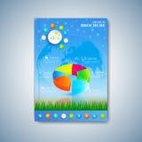 Moderne Schablonenplanbroschüre, -zeitschrift, -flieger, -broschüre, -abdeckung oder -bericht in der Größe A4 für Ihr Design Auch Stockfoto