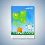 Moderne Schablonenplanbroschüre, -zeitschrift, -flieger, -broschüre, -abdeckung oder -bericht in der Größe A4 für Ihr Design Auch Lizenzfreie Stockbilder