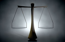 Moderne Schalen van Rechtvaardigheid Royalty-vrije Stock Afbeelding