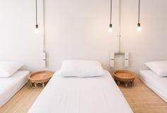 Moderne Schlafzimmerauslegung Lizenzfreies Stockbild