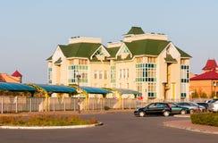 Moderne School in het Obolon-district van Kiev Royalty-vrije Stock Afbeelding