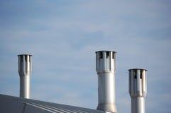 Moderne schoorstenen Stock Foto