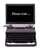 Moderne Schreibmaschine Lizenzfreies Stockfoto
