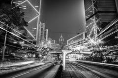Moderne Schwarzweiss-Gebäude von Hong Kong Stockfotos