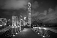 Moderne Schwarzweiss-Gebäude von Hong Kong Lizenzfreie Stockbilder