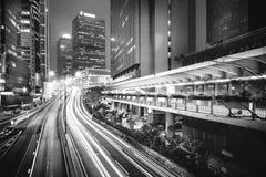 Moderne Schwarzweiss-Gebäude von Hong Kong Lizenzfreie Stockfotos