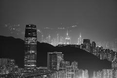 Moderne Schwarzweiss-Gebäude von Hong Kong Lizenzfreies Stockbild