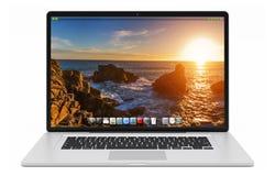 Moderne silberne Wiedergabe des Laptops 3D Lizenzfreie Stockfotos