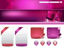 Moderne siteschablone Lizenzfreie Stockbilder
