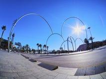 Moderne Skulptur in Barcelona Stockfoto