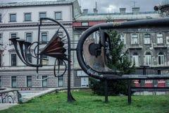 Moderne Skulptur in Sarajevo Lizenzfreies Stockfoto