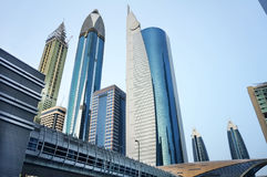 Moderne Skyline der im Stadtzentrum gelegenen Wolkenkratzer stockfoto