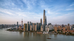 Moderne Skyline von Shanghai Stockfotografie