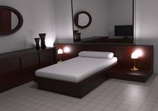 Moderne Slaapkamer Royalty-vrije Stock Afbeelding
