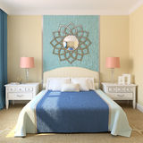 Moderne slaapkamer. royalty-vrije illustratie