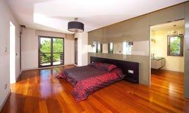 Moderne slaapkamer Royalty-vrije Stock Foto's
