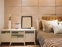 Moderne slaapkamer Royalty-vrije Stock Foto