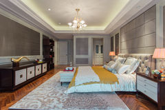 Moderne slaapkamer stock fotografie