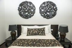 Moderne slaapkamer Stock Afbeeldingen