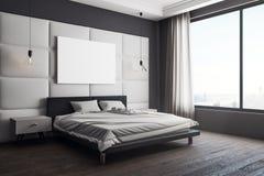 Moderne slaapkamer met aanplakbord royalty-vrije illustratie