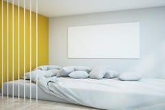 Moderne slaapkamer met lege affiche royalty-vrije illustratie