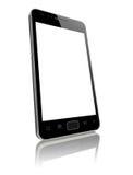 Moderne slimme telefoon met het lege geïsoleerde scherm stock foto