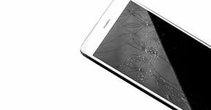 Moderne smartphone van het aanrakingsscherm met het gebroken scherm Stock Afbeeldingen