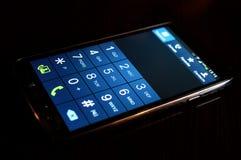 Moderne Smartphoneanzeige Stockfoto
