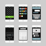 Moderne Smartphoneschnittstellenelemente Stockfoto