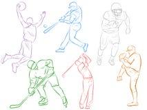 Moderne Sport-Ikonen Lizenzfreies Stockbild