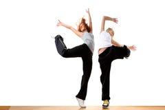 Moderne sportballetdansers Stock Foto