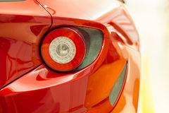 Moderne sportwagenrug - staartlicht Stock Foto's