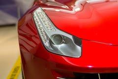 Moderne sportwagenvoorzijde - koplamp Royalty-vrije Stock Foto's