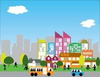 Moderne städtische Stadt Lizenzfreie Stockfotos